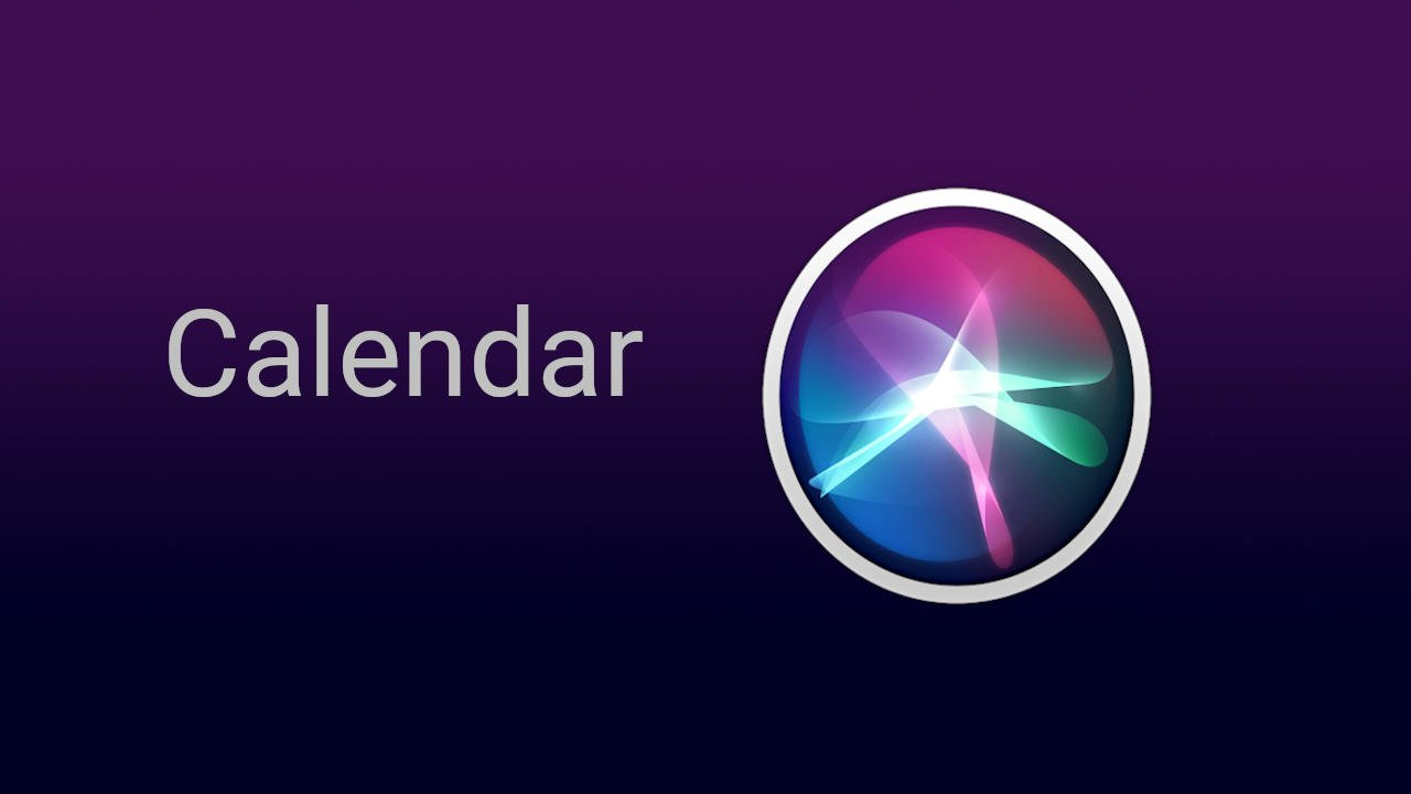 Siri Calendar Commands