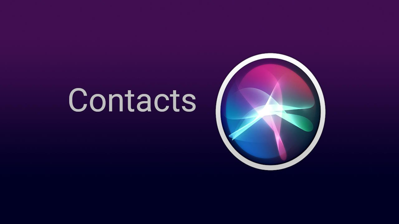 Siri Contacts Commands